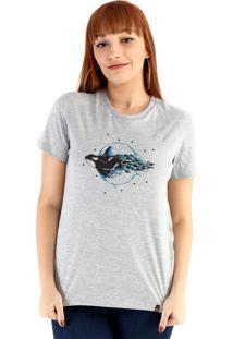 Blusa Ouroboros Baleia Aquarela Cinza