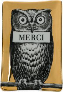 Fornasetti Cinzeiro Merci Owl - Dourado
