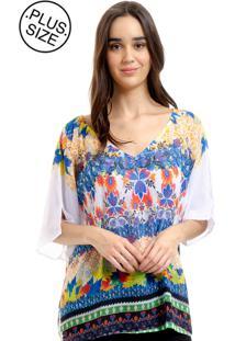 Blusa 101 Resort Wear Tunica Estampada Multicolorido