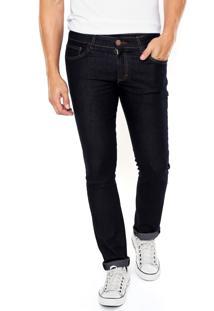 Calça Jeans Malwee Slim Pesponto Azul