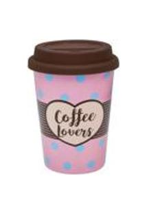 Conjunto De 6 Copos Trip 300Ml Com Tampa Coffee Lovers