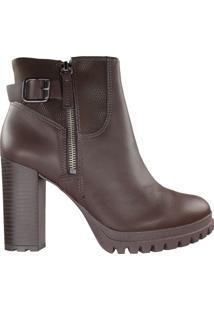 Bota Feminina Dakota Ankle Boot Marrom - 37