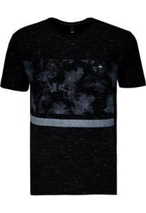 Camiseta Hd Especial Hibiscus - Masculino-Preto