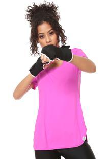 Camiseta Alto Giro Alongada Rosa