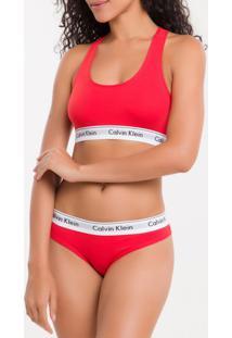 Top Nadador Modern Cotton - Vermelho - S