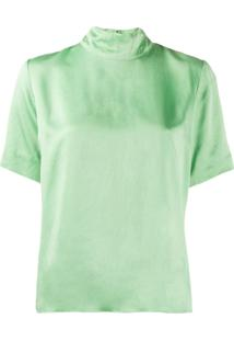 Forte Forte Blusa Modelagem Solta Com Mangas Curtas - Verde