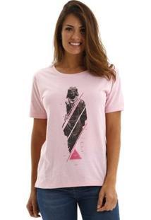 Camiseta Oriente Feminina - Feminino-Rosa Claro