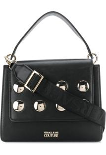 Versace Jeans Couture Round Studs Shoulder Bag - Preto
