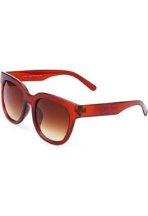 Óculos De Sol Ray Flector 283Co Feminino - Feminino-Caramelo