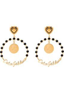 Dolce & Gabbana Par De Brincos Grandes - Dourado