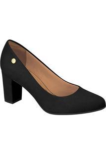 Sapato Tradicional Liso- Preto- Salto: 7Cm- Vizzvizzano