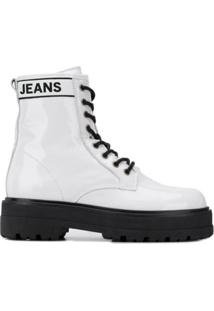 Tommy Jeans Leather Ankle Boots - Branco