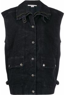 Stella Mccartney Colete Jeans Oversized - Preto