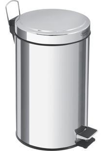 Lixeira Com Pedal Em Aço Inox Acabamento Polido De 12 Litros - Tramontina