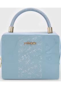 Bolsa Petite Jolie Estampada Azul