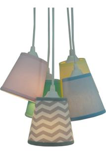 Lustre Pendente Mix Chevron Crie Casa Candy Colors Azul/Verde
