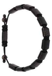 Nialaya Jewelry Bracelete 'Flatbead' - Preto