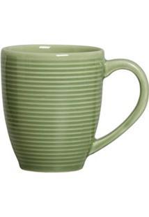 Conjunto De Canecas Argos Em Cerâmica De 340 Ml Com 4 Peças Verde Sálvia - Porto Brasil
