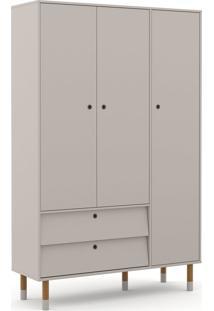 Roupeiro 3 Portas Up Cinza/Eco Wood Matic Móveis