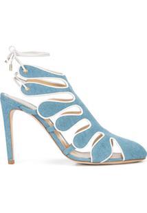 Chloe Gosselin Sandália Jeans - Azul