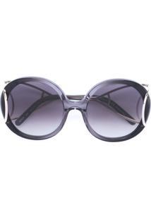 Chloé Eyewear Óculos De Sol 'Jackson' - Cinza