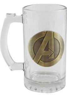Caneca Emblema Metal Vingadores - Zona Criativa