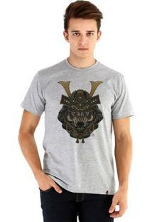 Camiseta Ouroboros Manga Curta Wild Samurai I - Masculino-Cinza