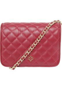 Bolsa Couro Capodarte Shoulder Bag Pequena Vermelha