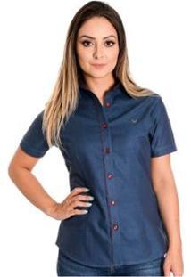 Camisa Pimenta Rosada Chelsea - Feminino-Azul