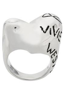 Vivienne Westwood Anel Com Logo - Metálico