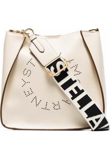 Stella Mccartney Bolsa Transversal Stella Logo - Branco