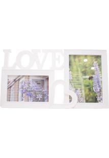 Porta Retrato Minas De Presentes Love 2 Fotos Branco