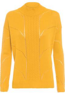 Blusa Feminina Tricot Desenho - Amarelo