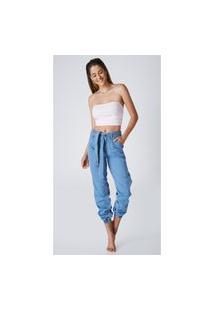 Calça Jeans Express Cintura Alta Snow Azul