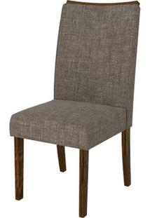 Cadeira Serena 2 Peças - Rústico Malbec Com Linho Bronze