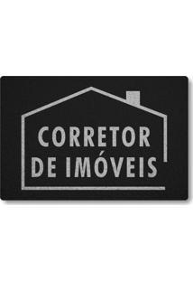 Tapete Capacho Corretor De Imoveis - Preto
