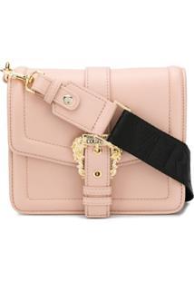 Versace Jeans Couture Bolsa Tiracolo Com Alça Trançada - Rosa