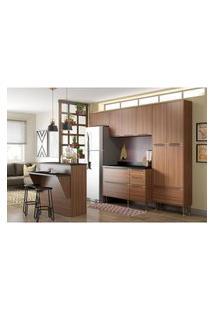 Cozinha Modulada Multimóveis 5464 Calábria 6 Peças Nogueira