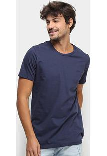 Camiseta T-Shirt Colcci Basic Masculina - Masculino-Azul Escuro