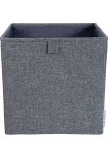 Cubo Organizador Cinza 31,5Cm