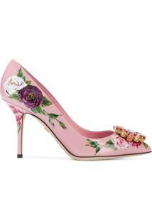 Dolce & Gabbana Scarpin 'Bellucci' Em Couro - Rosa