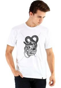 Camiseta Ouroboros Manga Curta Snake - Masculino-Branco
