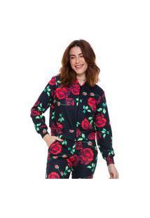 Jaqueta Bomber Jogabe Estampada Floral