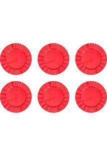 Jogo 6 Sousplats De Plástico Cook 33Cm Vermelho Bon Gourmet