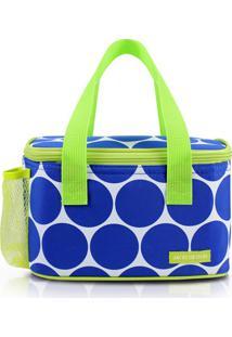 Bolsa Tã©Rmica Com Bolso Externo Jacki Design Ahl19850 Azul - Azul - Feminino - Dafiti