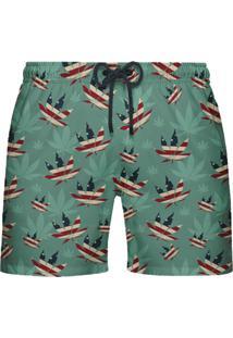 Shorts De Banho Citiz Syrup Verde