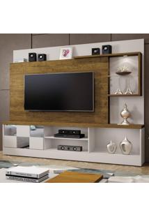 Estante Home Theater Para Tv Até 65 Polegadas Dinamarca Espelho Plus Mavaular Off White / Canion