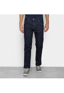 Calça Jeans Slim Preston Amassada Masculina - Masculino-Azul Escuro