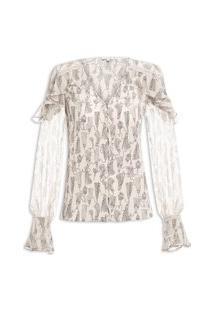 Blusa Feminina Thayla Estampada - Off White