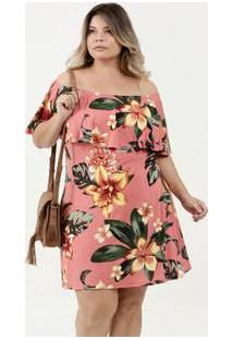 Vestido Feminino Ciganinha Estampa Floral Marisa